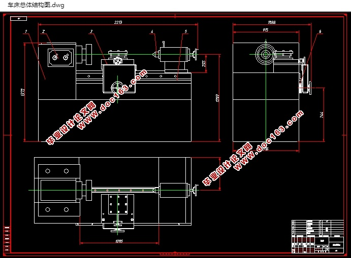 普通车床主传动设计_普通车床CA6140主传动机构设计(含CAD零件装配图)_机械_毕业设计 ...