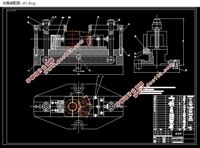 右支架机械加工工艺及专用夹具设计(2?#20934;?#20855;)(含CAD零件?#25216;?#20855;图)(论文说明书17000字,CAD图纸8张,工艺卡) 摘 要 夹具是机械加工不可缺少的辅助工具,由机床制造技术带动的高速,高精度,复合,智能,环保的引发而来的方向。这就带表了夹具的设计不仅要精密有效,还要经济通用。 本次针对右支架零件设计两?#20934;?#20855;,要完成一个机械加工零件,保证产?#20998;?#37327;的可靠以及现有资源的节约以及消耗的降低,最可行的办法就是先做一个机械加工设计。本课题研讨发动机支撑架加工技术规程。首要经过对零件图的分析,了解工件的结构形式,清