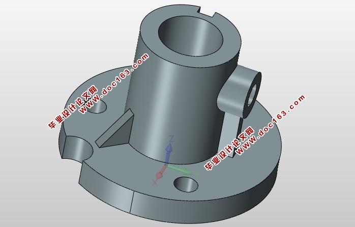 盘套类零件加工工艺及其钻3-12孔的夹具的设计(含cad图,ug三维图)